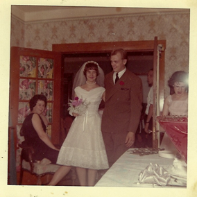 Mom and Dad on their wedding day... the happy couple!