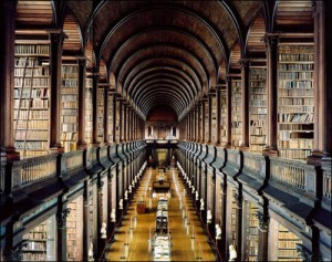 the never ending library (Trinity College, Dublin)